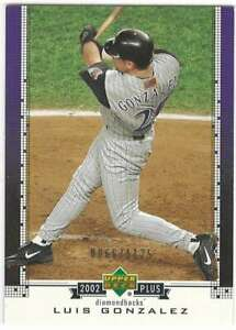LUIS GONZALEZ 2002 Upper Deck UD Plus #UD61 /1125 Diamondbacks  ID:9214