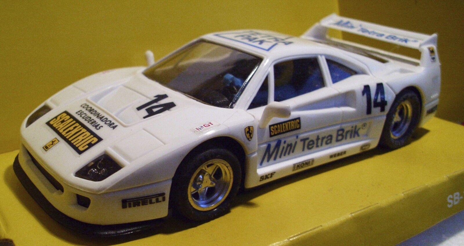Scalextric Scx 8355 Ferrari F40 Blanc  14 Tetra Pak Espagnol Importation -L   E