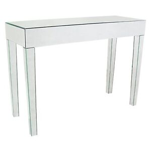 Venetian glass mirror modern contemporary tapered legs console hall table ebay - Modern console table with mirror ...
