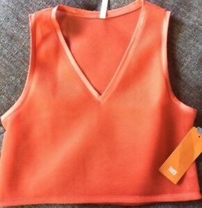 NWT-LUCY-Tech-Lighten-Up-Mesh-Muscle-Tank-Women-s-Size-Large-Orange-Y10