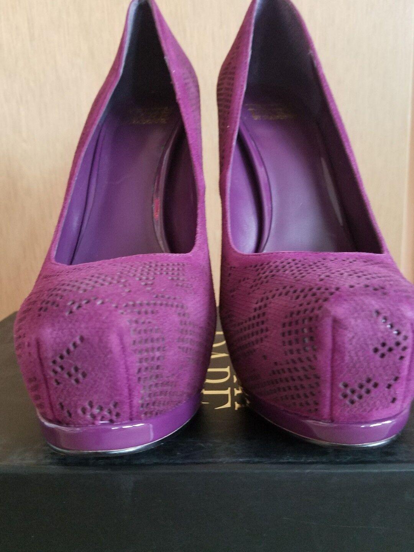 Truth Größe or Dare by MaDamens Größe Truth 7  LANGLADE Purple Suede Heels New Damenschuhe Schuhes. cd858a