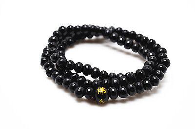 6mm * 108 Sandalwood Tibetan Buddhist Prayer Wood Beads Multi-layer Bracelet