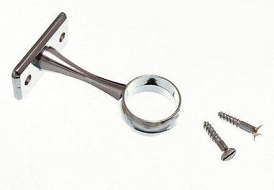 Armoire Rod Rail Prise fin support 19 mm Plaqué Chrome Qté Pack 2