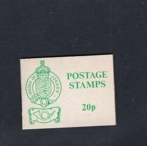 Jersey-1976-20p-Green-on-White-Sachet-Booklet