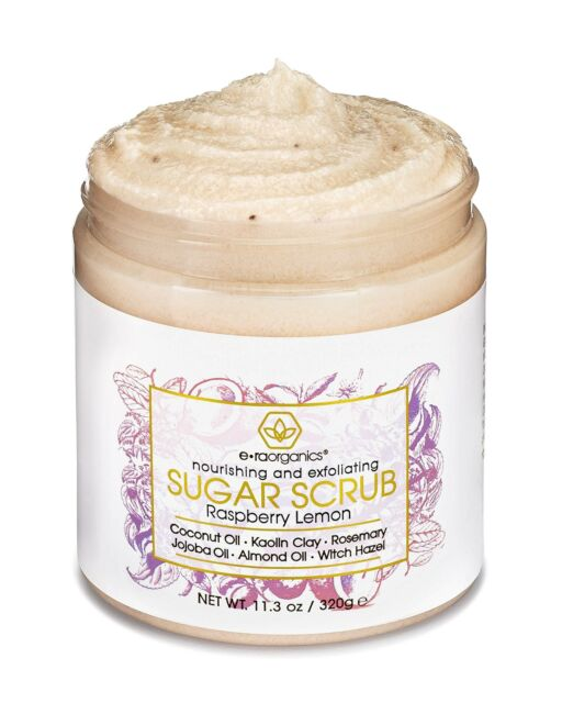 Era Organics Natural Organic Sugar Scrub Body Exfoliator For