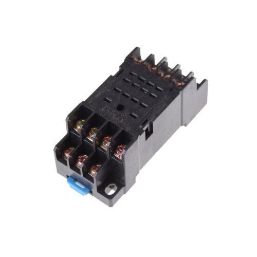 MY4NJ 12v//24v//220v Coil Power Relay DIN Rail Mounted 14 Pin 4PDT with Socket Tw