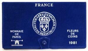 0032 - Coffret Fleurs De Coins - Francs - 1981 - 1 Centime à 10 Francs Les Produits Sont Disponibles Sans Restriction