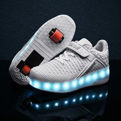 USB Charging Roller Skate Casual Shoes