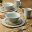 thumbnail 5 - 16 Piece Fitz and Floyd Butterfly Fields Dinnerware Set Stoneware Service  4