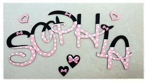 ❤️Holz Buchstaben 10cm, ❤ Kinderzimmer Tür Wunschname ...
