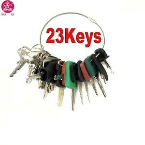 23-Keys-Heavy-Equipment-Construction-Ignition-Key-Set-For-CAT-Komatsu-Volvo-JD