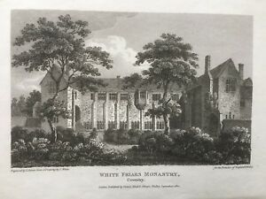 1810-Antique-Print-Whitefriars-Herbert-Art-Gallery-Coventry-after-T-White