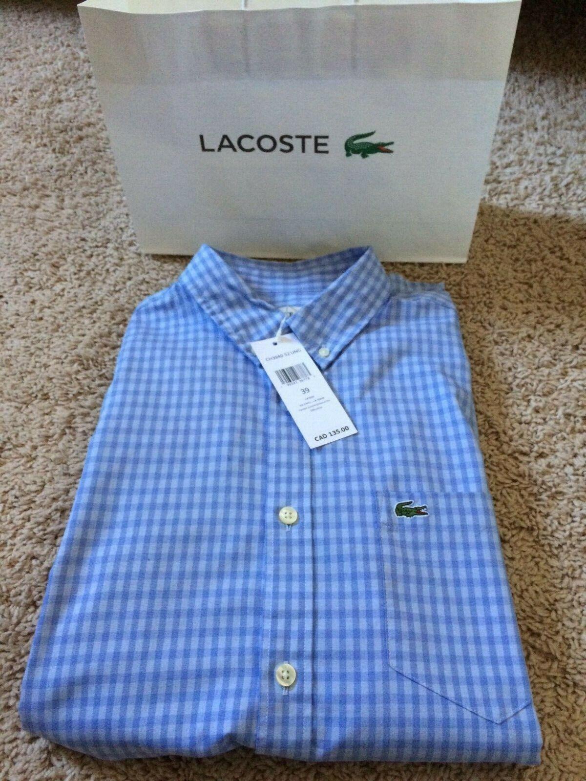 Lacoste Dress Shirt 100% Cotton
