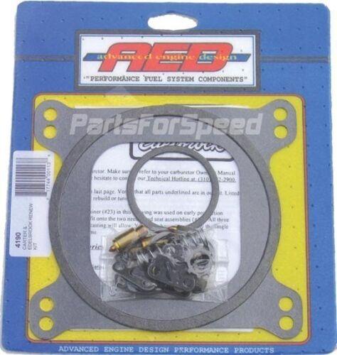 AED 4190 Edelbrock Carb Rebuild Kit 1405 1406 600 650 750 Carter