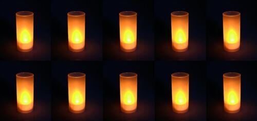 "inkl NEU /& SOFORT Becher 10 LED-KERZEN TEELICHTER McShine /""Safety Candle/"""