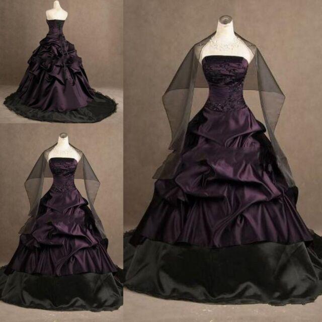 Custom Gothic Ball Gown Wedding Dress Formal Bridal Gowns Custom Made Plus Size