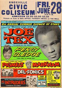 JOE TEX/PERCY SLEDGE - Knoxville 1968 Music Concert Poster Art | eBay