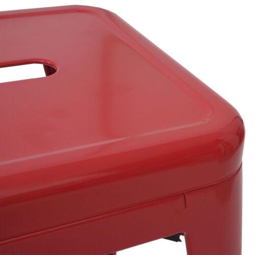chaise de bar tabouret métallurgie design empilable 4x tabourets de bar hwc-a73