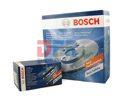 KIT DISCHI 258MM + PASTIGLIE PATTINI FRENO BOSCH FORD AUSTRALIA FIESTA VAN VI