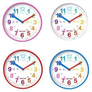 Acctim Wickford Kids Clock Children Wall Clock Teach Time Learn To Read Time Ebay