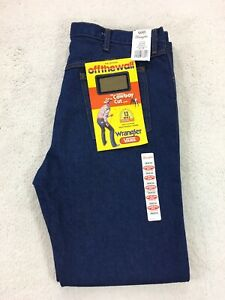 Wrangler-X-Vans-Cowboy-Cut-Blue-Denim-Jeans-Check-Skate-13MWZ-Mens-36x32-Rare