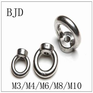M10 Locking Nuts Durable Eye Nuts Lifting Eye Nuts for Cable Rope