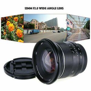 12mm-f-2-8-Weitwinkel-manuelle-MFT-Objektiv-fuer-Panasonic-Olympus-m43-Micro-4-3-Kamera