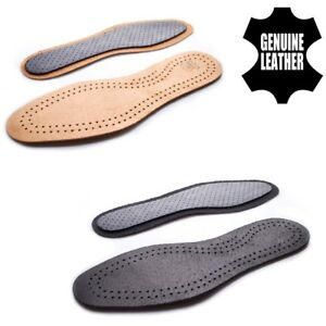 Leather Shoe Insoles Unisex Active Carbon Genuine Inner Sole Boots