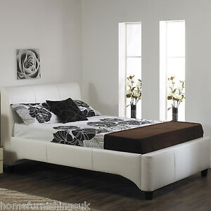 Luxury Michaela 3ft 6 Large Single Hand Made Faux Leather Bed Frame