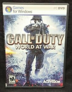 CALL OF DUTY: WORLD AT WAR -  PC CD-ROM Complete Mint Discs 1 Owner