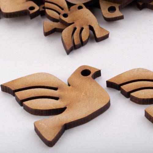 Formas de MDF de Madera Pájaro Decoración Artesanal Scrapbook Adornos tarjeta Náutica