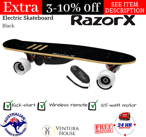 a2779430d6c Image is loading Razor-X-Cruiser-Electric-Skateboard-with-Wireless-Remote-