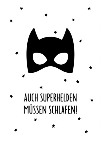 Superheld / Postkarte A6 Bild Kunstdruck Print Druck Boys Superhero Hero Jungen