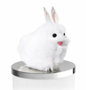 BATH-amp-BODY-WORKS-WHITE-FUZZY-BUNNY-RABBIT-EARS-MAGNET-CANDLE-LID-DECOR-EASTER