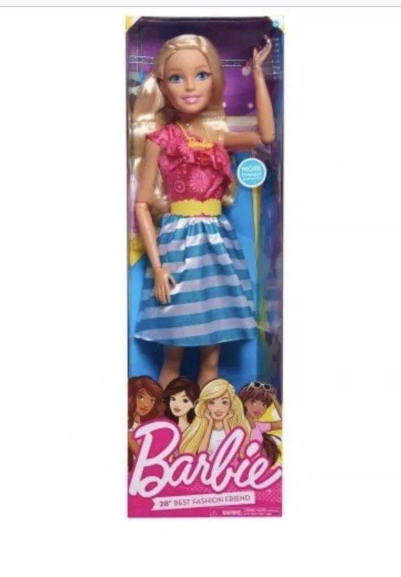 Gigant Barbie 28  la mia taglia BAMBOLA BIONDA 70CM