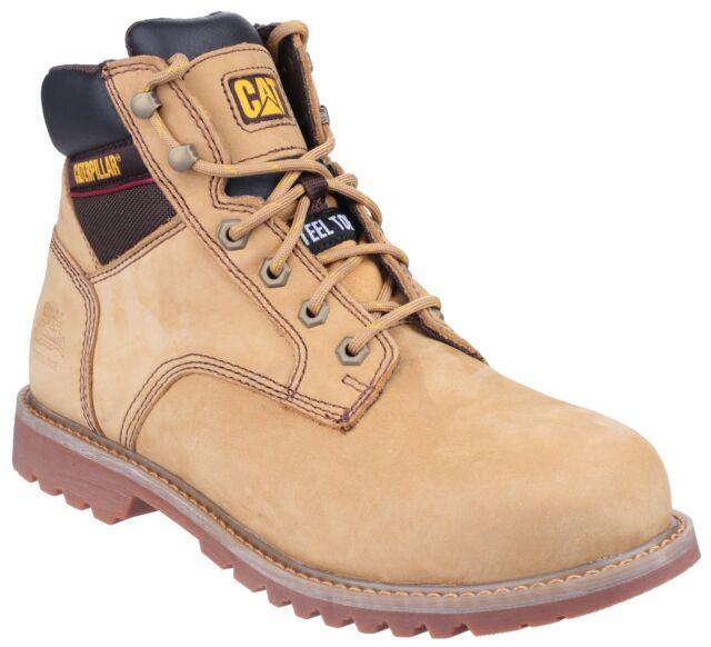 CAT Shoes 7002 Caterpillar Tracker SB Steel Toe Cap Safety Honey Nubuck Boots