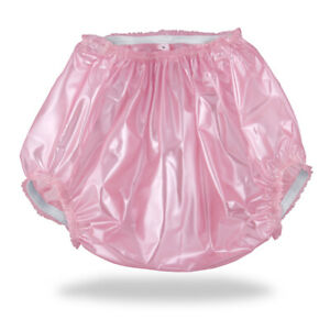 Pearly-Pink-Plastic-Pants-Adult-Baby-Diapers-amp-Nappy-AB-DL-amp-DDLG-Sissy