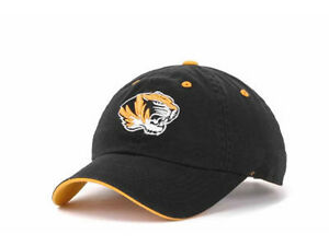 reputable site 7cfb8 eebeb ... closeout image is loading missouri tigers mizzou ncaa crew black  adjustable hat 7405e a6534