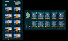 IJsland 2013 Vuurtoren leuchturmen lighthouses 2velletjes/sheetlets postfris/mnh