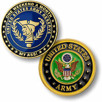 One Weekend A Month My A Challenge Coin Army National Guard Us Novelty Funny