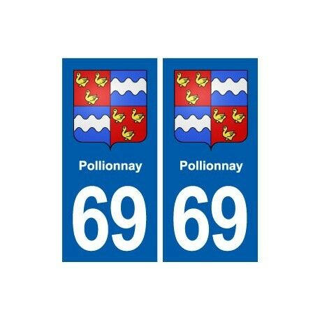 69 Pollionnay blason autocollant plaque stickers ville droits