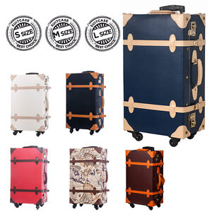 BTM Retro Suitcase Vintage Suitcase Luggage Luxury PVC suitcase ...