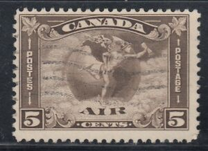 Canada-Scott-C2-5-cent-brown-olive-034-Air-Mail-034-HCV
