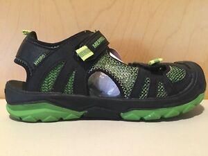28c8cb069313 Merrell ML Boys Hydro Rapid Water Shoe Sandal Black Green Big Kid ...