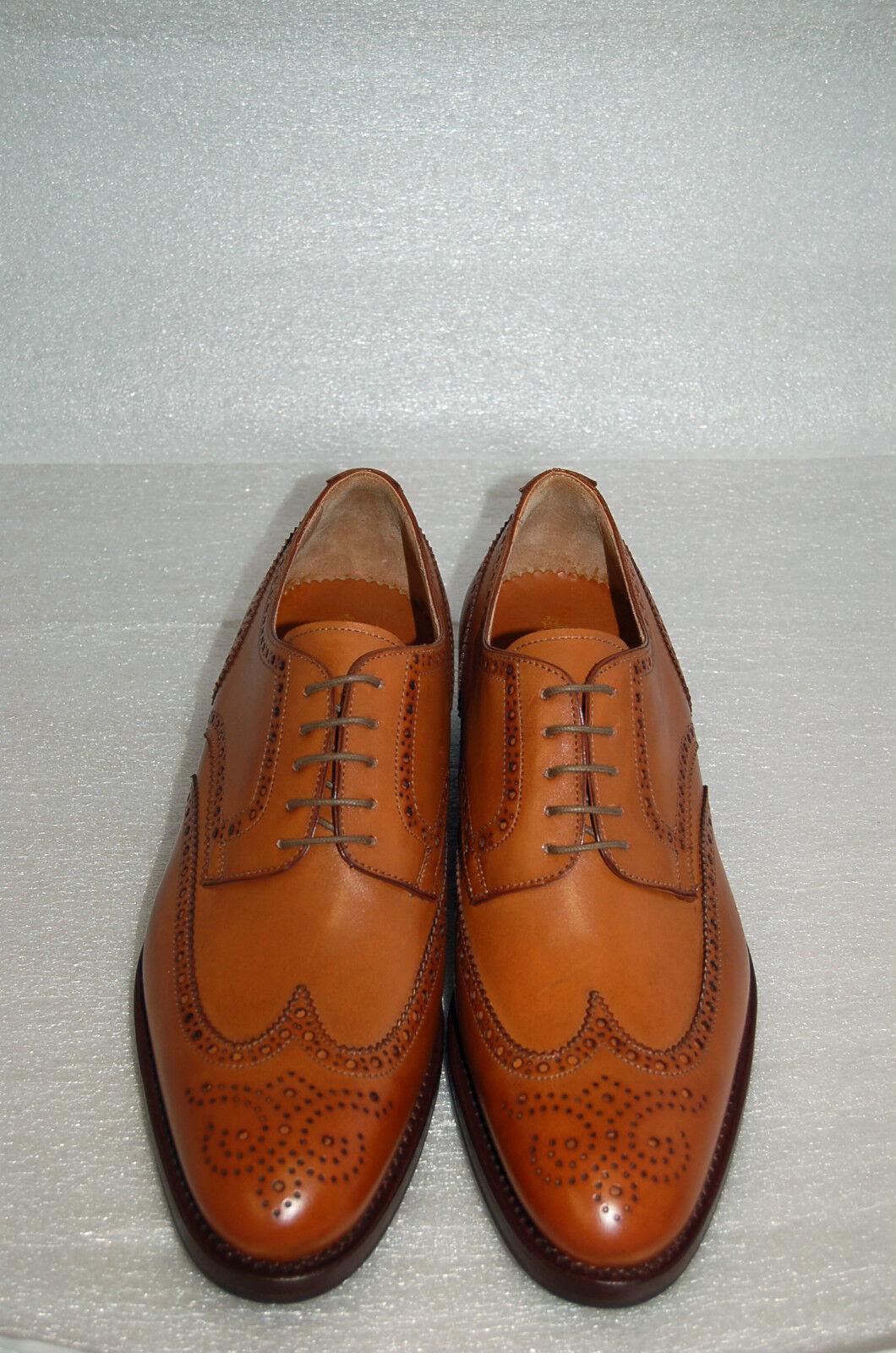 outlet in vendita MAN MAN MAN -42- 8eu-OXFORD WING CAPTOE -CALF TAN- FRANCESINA CUOIO - LTH SOLE+DAINITE  qualità autentica