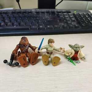 4pcs Playskool Star Wars Galactic Heroes Kit Fisto Darth Maul Luke /& Yoda Figure
