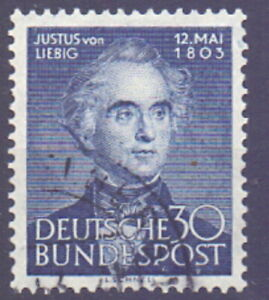 Germany-1953-The-150th-Birth-Anniversary-of-Justus-von-Liebig-used