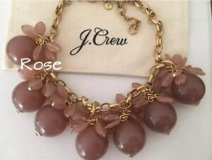 NWT-J-Crew-Blossom-Bauble-hthr-khaki-Necklace-Sold-Out-98