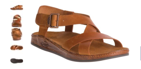 8b0a628ae3e Chaco Wayfarer Rust Leather Ankle Strap Comfort Sandal Women s sizes 5-11  NEW!