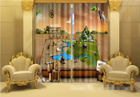 3d Animal Paradise Blockout Photo Curtain Printing Curtains Drapes Fabric Window